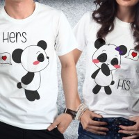 Baju Valentine Couple - Kaos Pasangan - Panda herhis