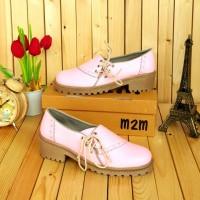 Sepatu KEts Docmart Wanita Pink Tali SAmping Grosir Sepatu Murah