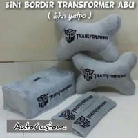 Bantal Mobil 3 in 1 TRANSFORMERS Abu-abu / Transformer Grey