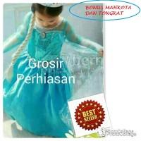 Dress pesta anak biru / gaun princess putri elsa frozen / imlek murah