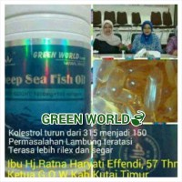 Deep Sea Fish Oil Softgel ORIGINAL Green World - PENURUN KOLESTROL