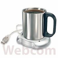 Penghangat Minuman USB 2.0 Coffee Cup Warmer Pad + 4 USB Ports Hub