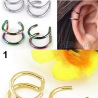 EE0110 - earrings / giwang / anting jepit tanpa tindik