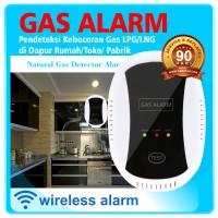 Wireless Gas Detector 433 Mhz Alarm Pedeteksi Kebocoran Gas LPG Co dll