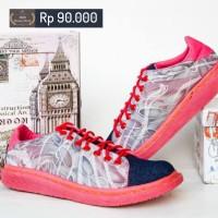 Sepatu Wanita Docmart Pink / Merah Muda