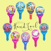 Balon Mini Hand Foil / Foil Pentungan / Foil Karakter/Foil Hello Kitty