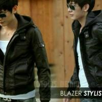 jaket semi kulit/imitasi/karlit model ggs blazer