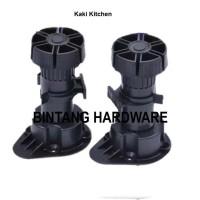 Kaki Kitchen Adjustable Leg Untuk Kaki Lemari Kitchen Set Hitam