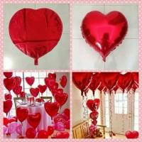 balon foil bentuk hati warna merah love balloon kasih sayang valentine