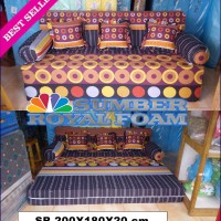 Sofa Bed 3 IN 1 Busa Royal Uk 200x180x20 Cm Garansi Resmi