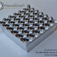 Ashtray - Asbak Aluminium Lobang 36 - Asbak Rokok - Asbak Lubang 6x6