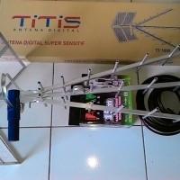 Antena TV TITIS original super peka + kabel tanaka 15m