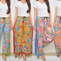 Celana Kulot Batik Satin Silk