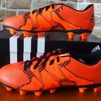 sepatu bola Adidas X 15.4 FxG Black/Orange (original,terbaru,new,2016)