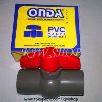 Ball Valve / Stop Kran Plastik Drat Dalam ukuran 1/2 ONDA