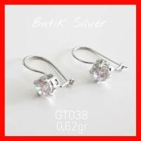 Anting Giwang Desi Permata Kristal AT038 Silver Perak 925 Asli