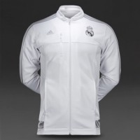 JAKET REAL MADRID ANTHEM WHITE 2015/2016 GRADE ORI