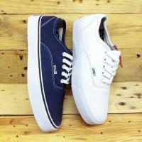 Sepatu Vans Authentic Navy White /Biru Putih Sekolah Anak Keren Murah