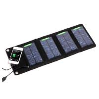 Foldable Solar Power Bank (Kapasitas 7 Watt menggunakan 4 Solar Panel)