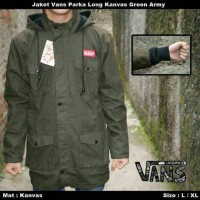 jaket parka/jaket tentara/jaket army/long van kanvas