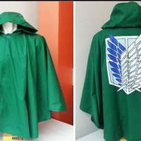 Attack On Titan Jubah AOT Anime Cosplay Hijau Green Jaket JZ SNK 01