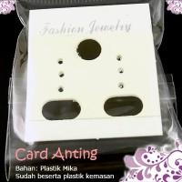kartu tempat anting murah CARD ANTING isi 24 + plastik grosir