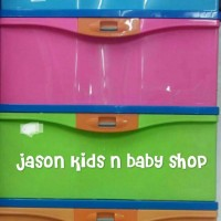 lemari plastik/container serbaguna merek lion star tipe medium susun 4