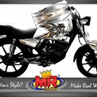 stiker motor rx king custom black horse special edition