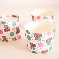 papercup cupcake muffin cake bake baking tool kue hias fountain tray
