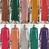 Dalaman Gamis baju muslim kaftan manset panjang inner terusan halus