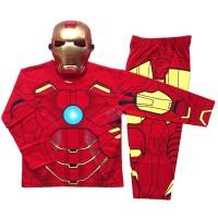 Baju Anak (Topeng) Katun - Iron Man