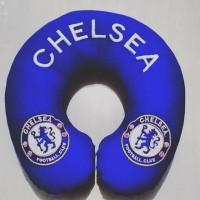 Bantal leher Chelsea traveling