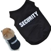 Baju Anjing dan Kucing Logo Security
