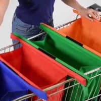 Tas Supermarket Shopping Trolley Bag Tas Belanja Lipat =1set dapat 4pc