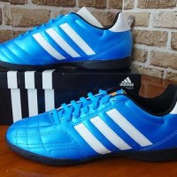 Sepatu futsal Adidas Goletto V Stabilo Blue IN Original.