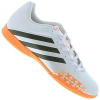 sepatu futsal adidas predito lz in putih orange original