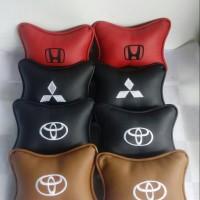 Bantal Mobil Custom Bahan Semi kulit