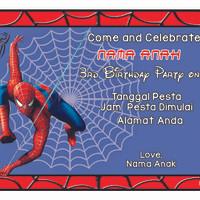Kartu Undangan Ulang Tahun / Birthday Marvel Spiderman / Spider-Man