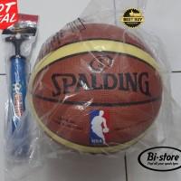 New Bola Basket Spalding NBA PU kulit Mantap + Pompa Murah!