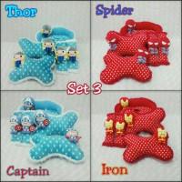 Bantal Mobil 3 in 1 MARVEL Ori Ironman, Captain, Spiderman or Thor