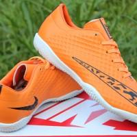 Sepatu Futsal Nike Elastico Superfly Orange (sepatu terbaru,termurah)