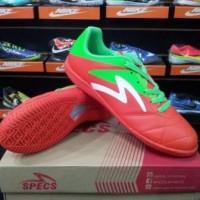 Sepatu Futsal Specs Barricada Gurkha Orange Green 400484