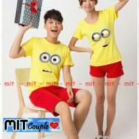 Kaos Couple Lengan Pendek / Baju Pasangan Minion