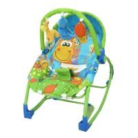 Bouncher Kursi Bayi Pliko Rocking Chair Hammock 3 Phases Giraffe