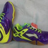 Sepatu Badminton Lining Turbo Warrior Yellow/Purple (New 2016)