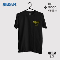 Kaos Band Nirvana Original Gildan - Logo Small