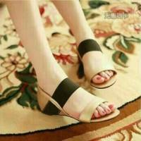 flat shoes sandal wanita tali karet
