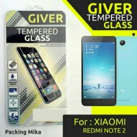 Anti Gores Tempered Glass Giver Xiaomi Redmi Note 2