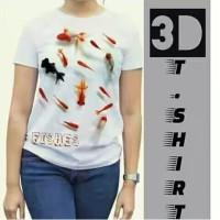 Kaos 3D Ikan