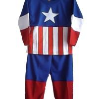 Baju Anak (Topeng) Katun - Captain America
